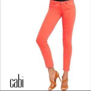 CAbi Skinny Jeans Size 0 Style #747 Coral Pink